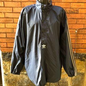 Vintage Adidas Windbreaker Coat Striped XXL